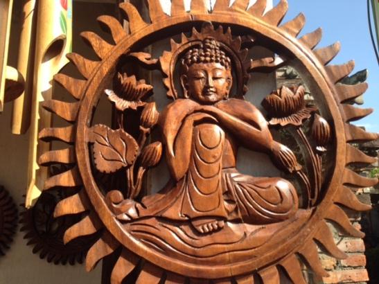 wood statue bali